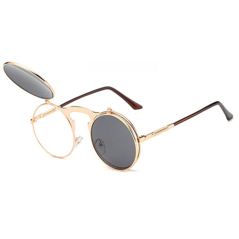Image of Flip Up Steampunk Sunglasses Gainsboro