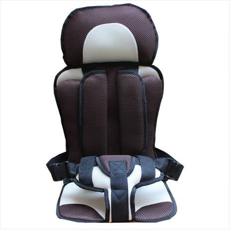 Image of Baby Car Seat Safety Belt Brown