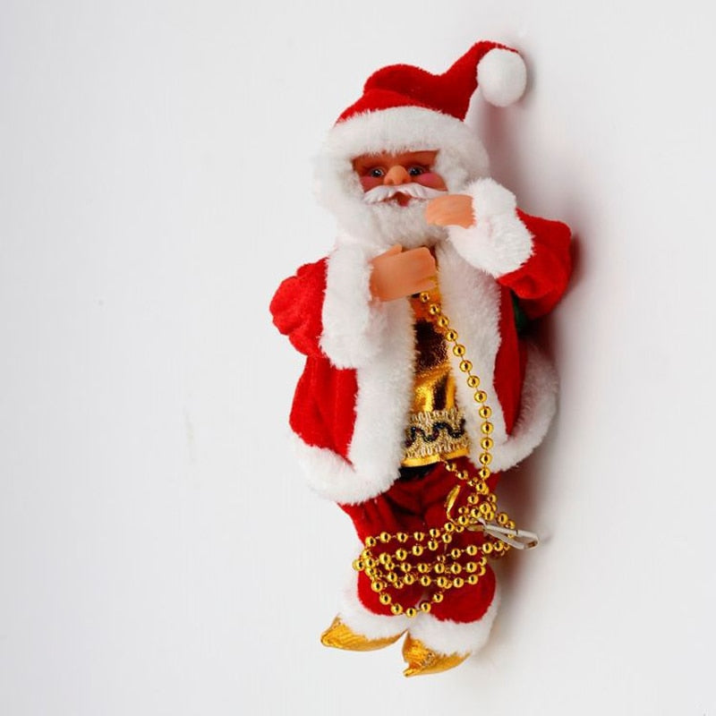 Climbing Santa Claus Christmas Ornament