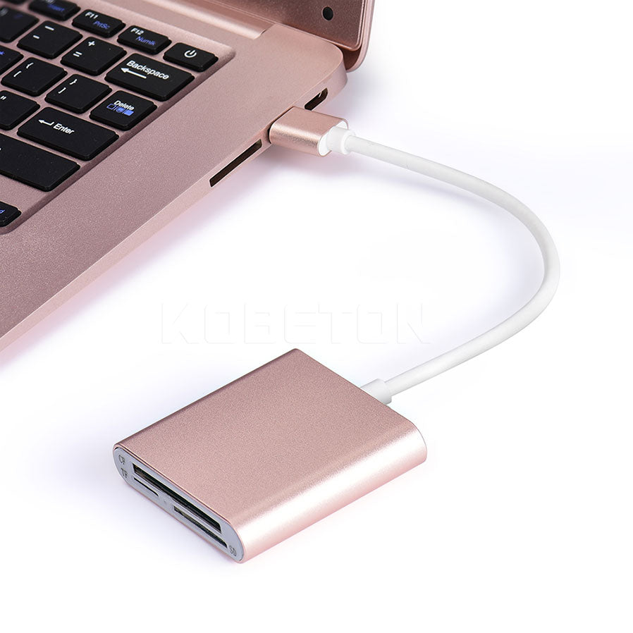3 in 1 Card Reader Gold