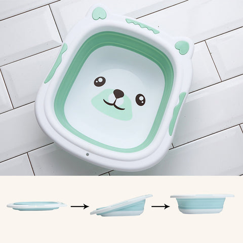 Image of Collapsible Baby Bath Tub Aquamarine / Small