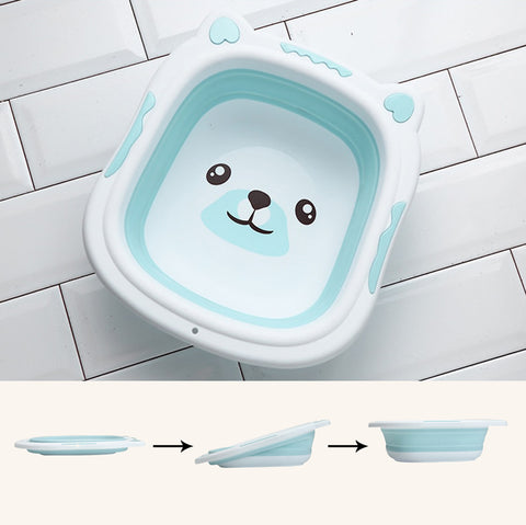 Image of Collapsible Baby Bath Tub PaleTurquoise / Small
