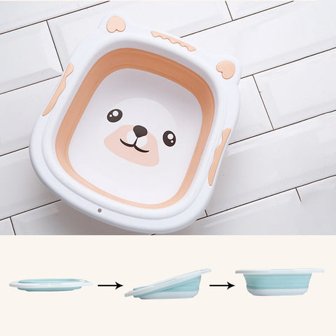Image of Collapsible Baby Bath Tub Bisque / Small
