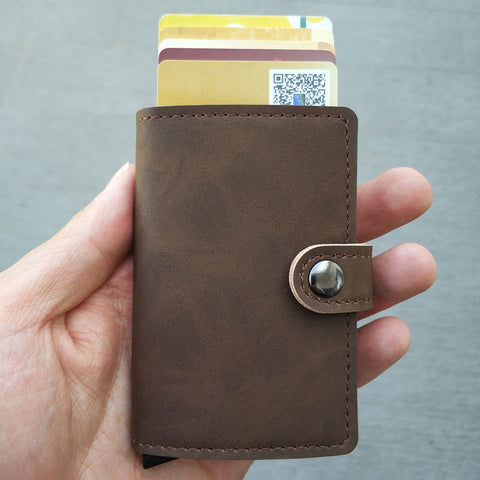 Image of Card Holder Wallet Maroon