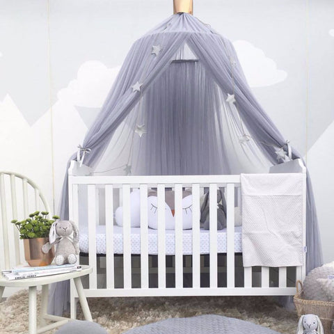 Baby Crib Canopy Purple