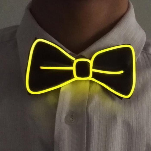 Light Up Bow Tie Yellow