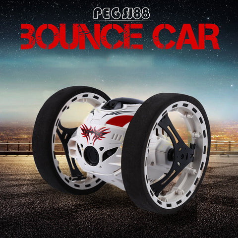 Remote Control Bounce Car White