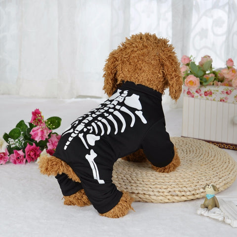 Halloween Skeleton Dog Costume L