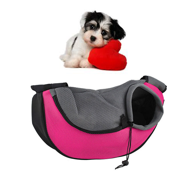 Pet Sling Carrier rose red / L
