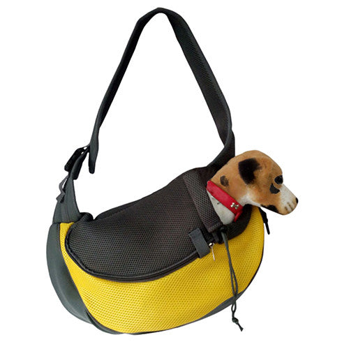 Pet Sling Carrier Yellow / L