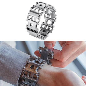Wearable Multitool Bracelet Silver