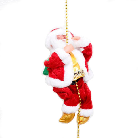 Image of Climbing Santa Claus Christmas Ornament