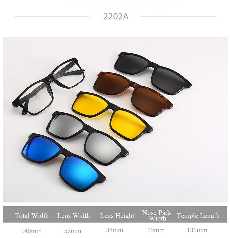 Snap On Magnetic Sunglasses