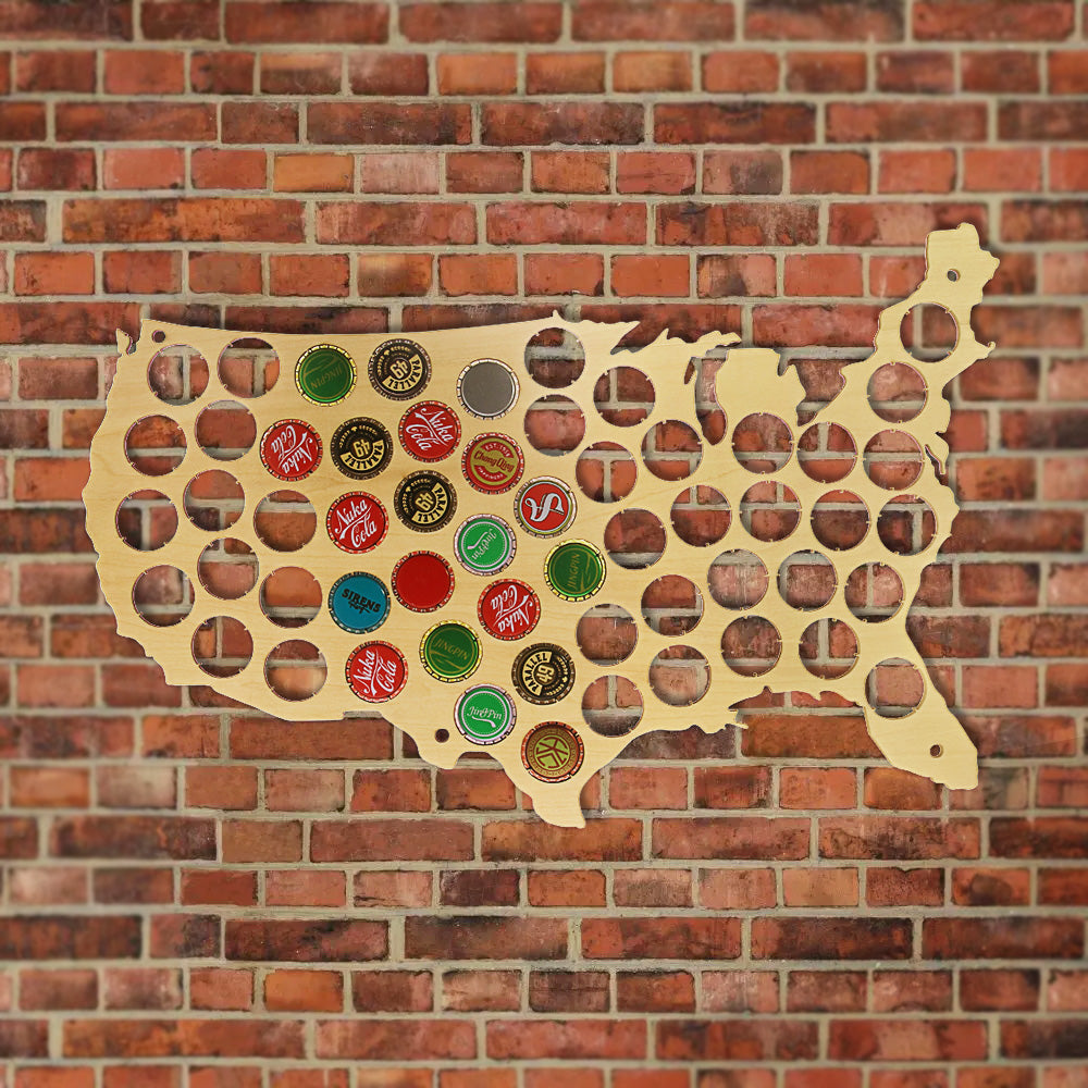 Beer Bottle Cap Map