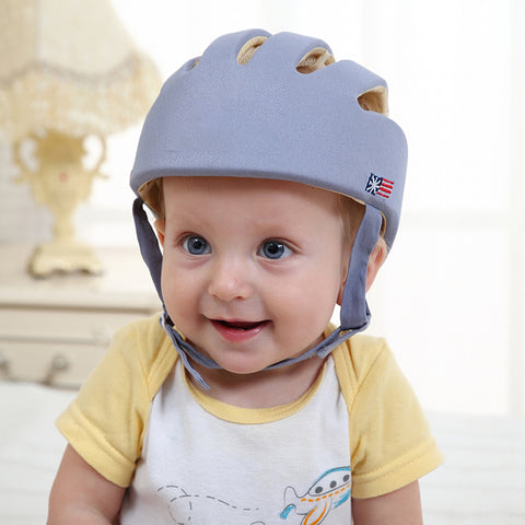 Baby Safety Helmet Grey