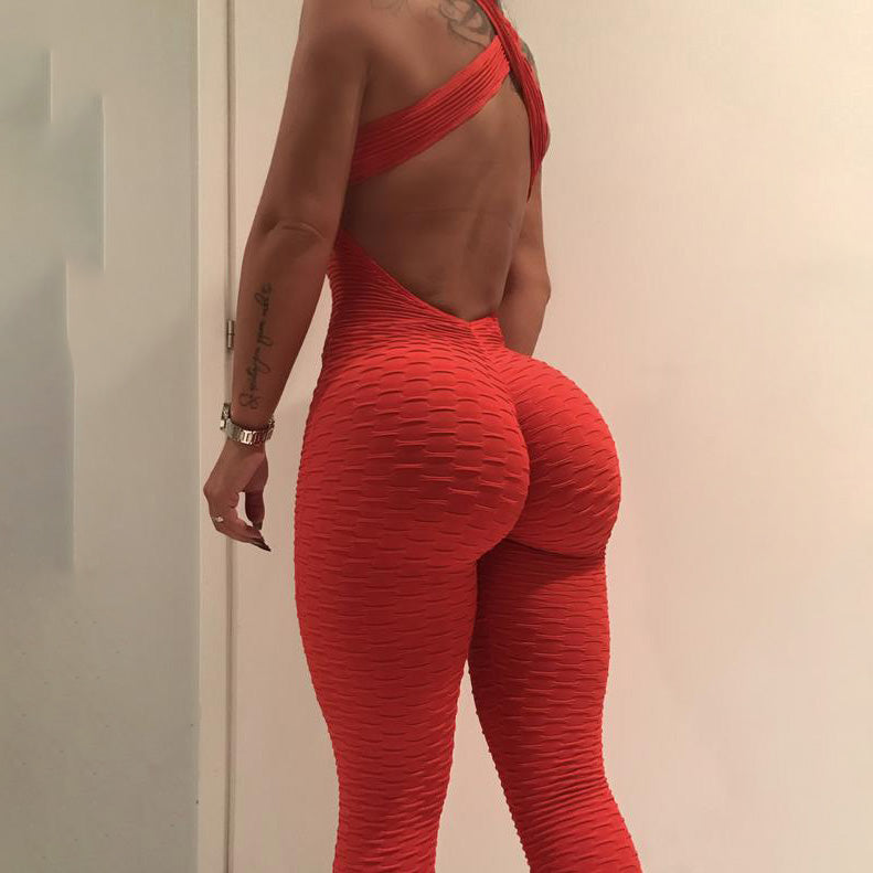 Anti Cellulite Push up Bodysuit Red / S