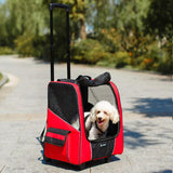 Breathable Pet Stroller Backpack Red / 34 x 25 x 44 cm