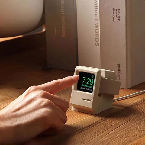 Image of Retro Apple Watch Charging Dock White
