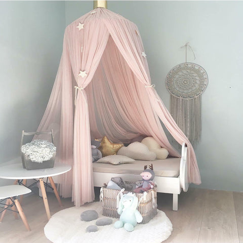 Baby Crib Canopy Pink