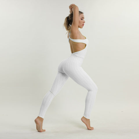 Anti Cellulite Push up Bodysuit White / S