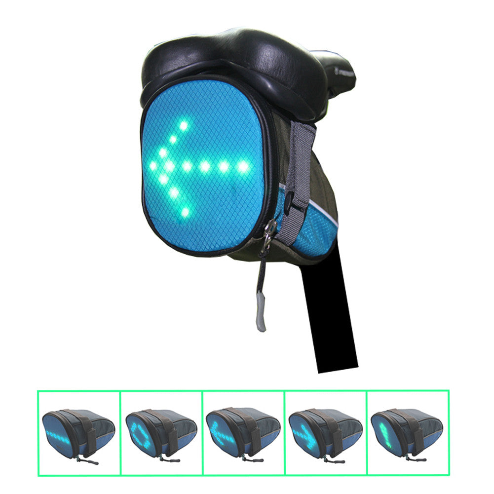 Bicycle Turn Signal Bag Blue
