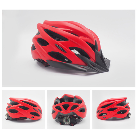 Image of Bicycle Helmet red
