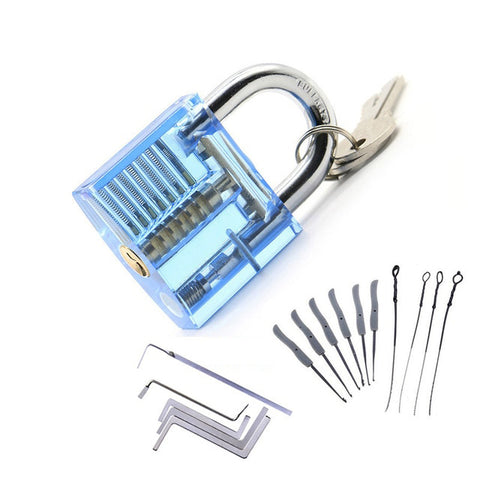Image of Transparent Lock Pick Practice Set Pale Turquoise