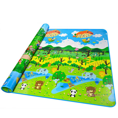 Baby Crawling PlayMat forest and garden / 180cmX150cmX5mm