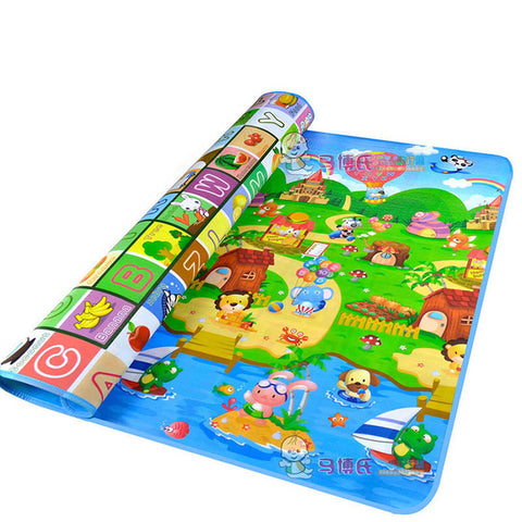 Baby Crawling PlayMat letter and farm / 180cmX150cmX5mm