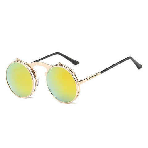 Image of Flip Up Steampunk Sunglasses LightYellow