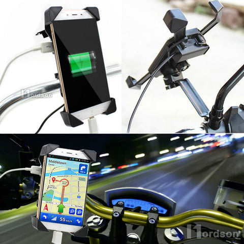 Motorcycle Phone Holder Charger