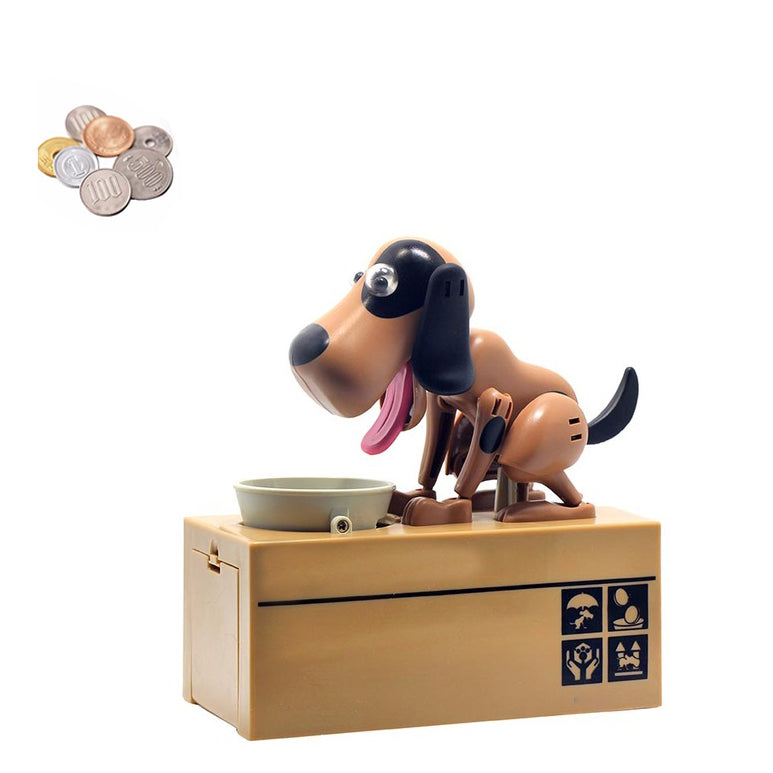 Dog Coin Bank Black and brown