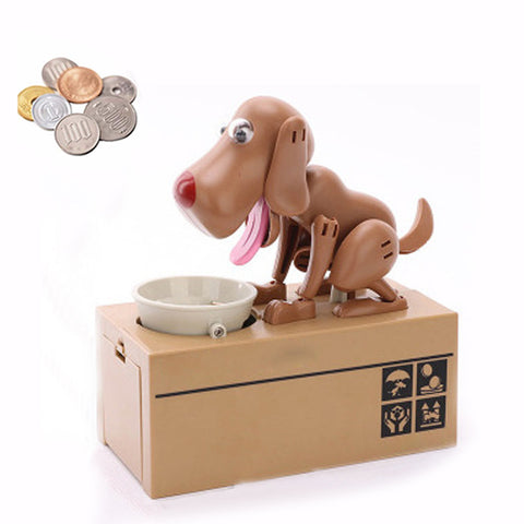 Image of Dog Coin Bank Brown