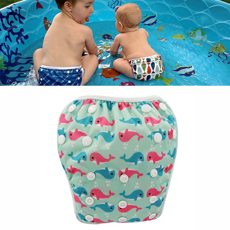 Waterproof Swimming Baby Diaper diaper-3 / One Size Adjustable