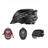 Bicycle Helmet with Goggles black