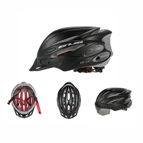 Image of Bicycle Helmet with Goggles black