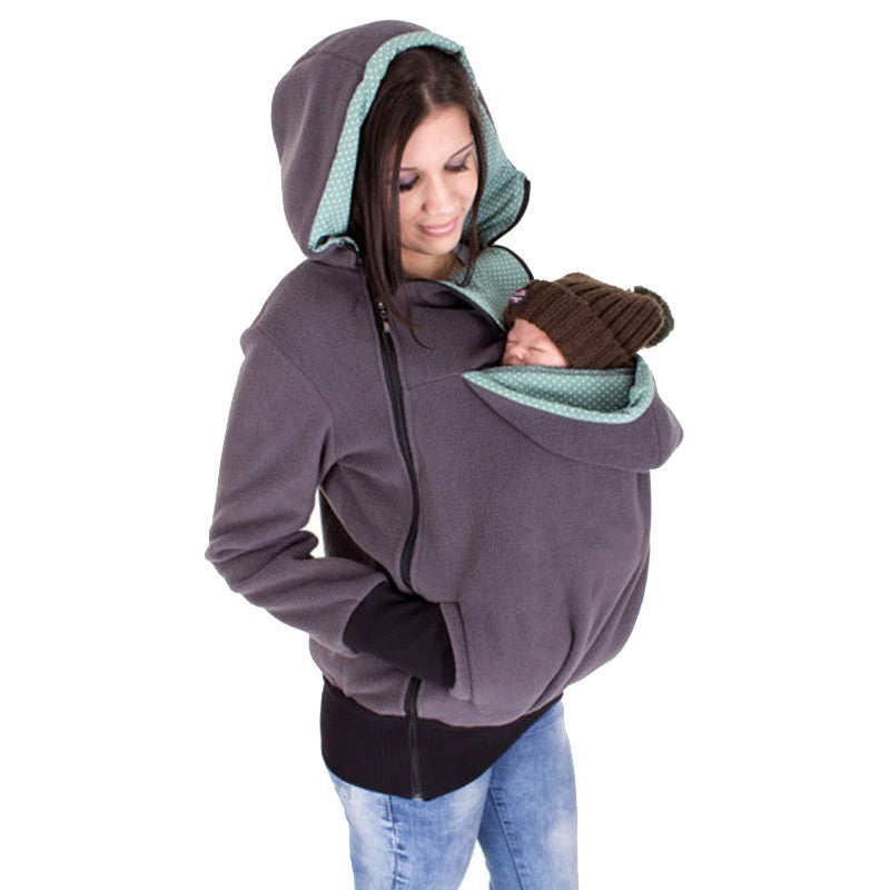 Baby Carrier Hoodie Gray / S