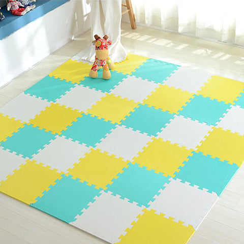 Interlocking Foam Mat Green-SkyBlue / 30x30x1cm 12pcs