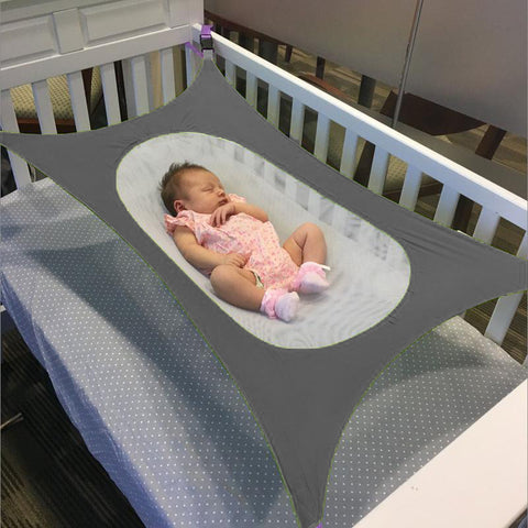 Image of Baby Crib Hammock Gray