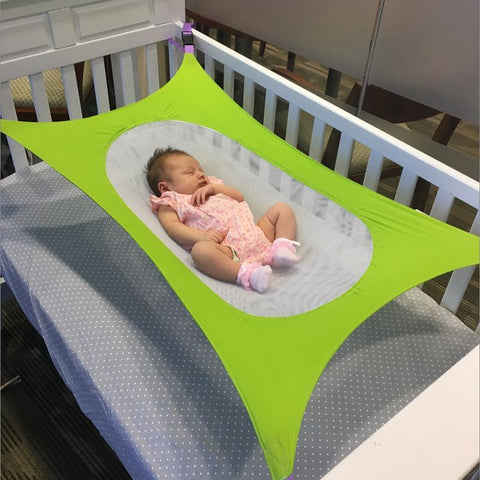 Image of Baby Crib Hammock Green
