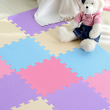 Interlocking Foam Mat Pink-Beige / 30x30x1cm 12pcs