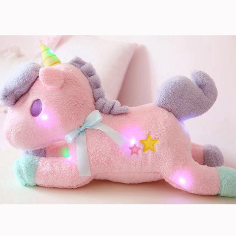 Image of Luminous Unicorn Plushie Normal/Pink