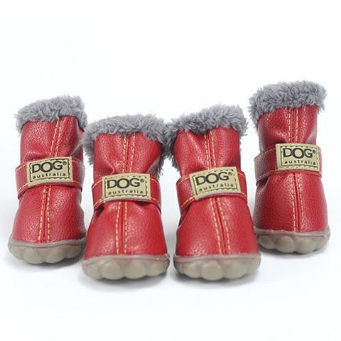 Dog Shoes for Winter Red / S