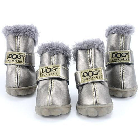 Dog Shoes for Winter Silver / L