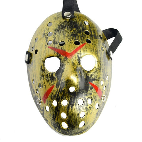 Jason Voorhees Halloween Mask Pattern Gold