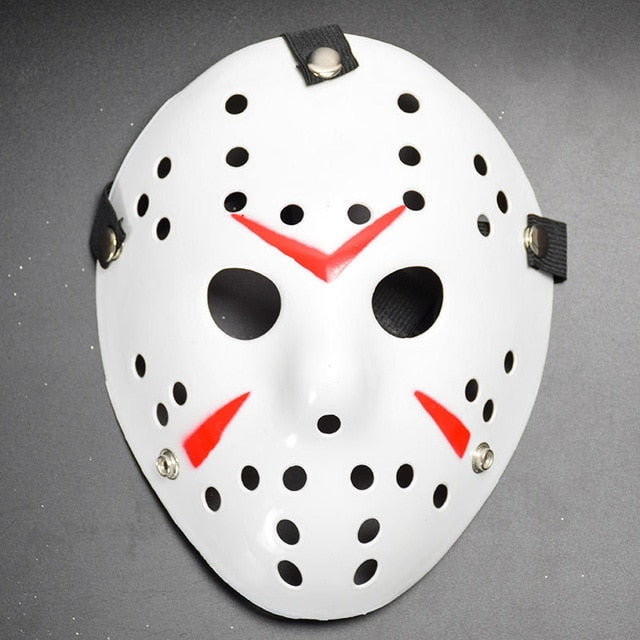 Jason Voorhees Halloween Mask Pattern Red