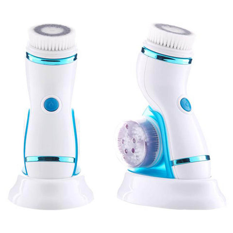 Image of Facial Cleansing Brush With Changeable Heads & Stand