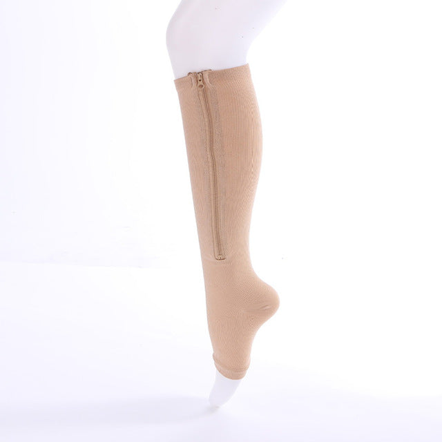 Open Toe Pain Relief Compression Socks khaki / 40cm