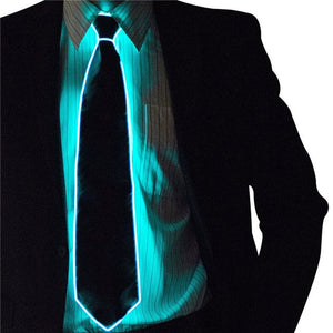 Flashing LED Tie Teal