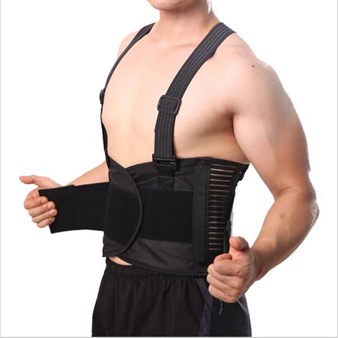 Image of Lumbar Back Brace With Suspender black / L